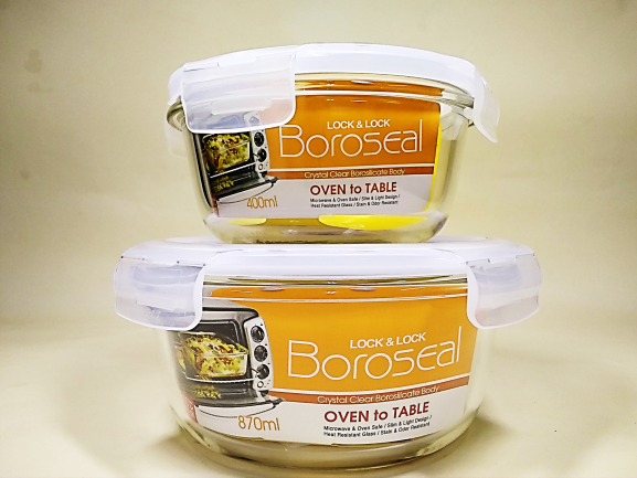 《LOCK&LOCK》耐熱玻璃保鮮盒(圓型) 玻璃盒/保鮮盒/冷凍微波可用
