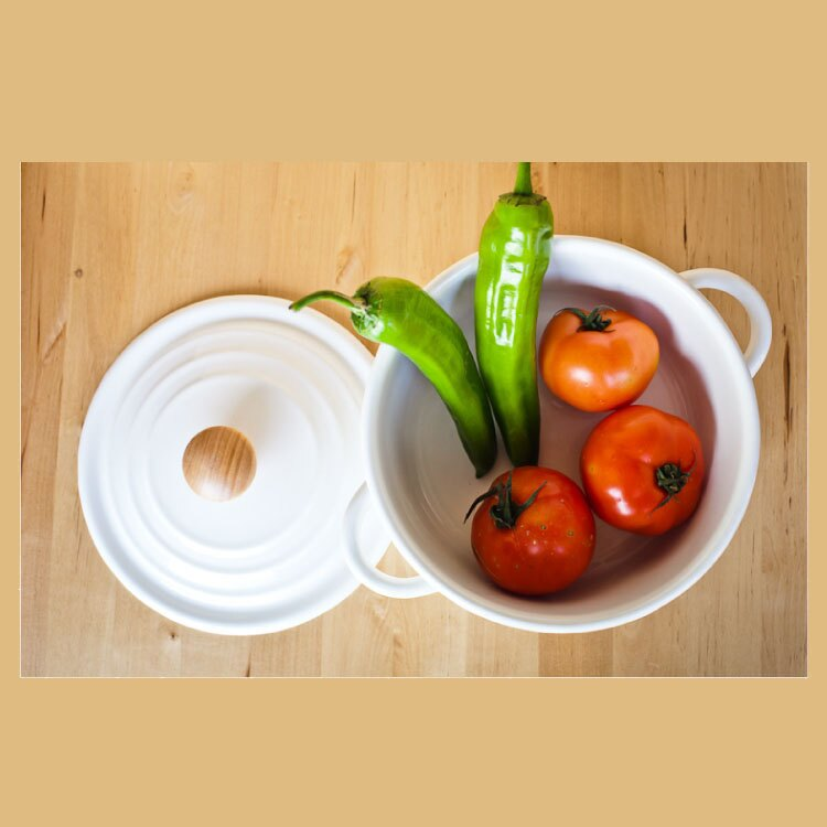 日式野田風螺紋蓋琺瑯湯鍋帶蓋瓦斯爐電磁爐 23cm(白色) →現