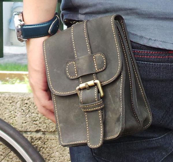 真皮手機腰包~休閒復古瘋馬皮 皮帶扣 5^~7吋 手機袋 手機包 掛包 真皮包 收納包 相