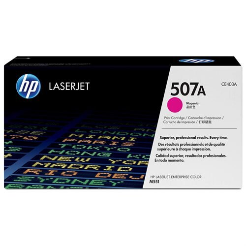 HP 507A (CE403A) Magenta Original LaserJet Toner Cartridge - Laser - 6000 Pages - 1 Each 0