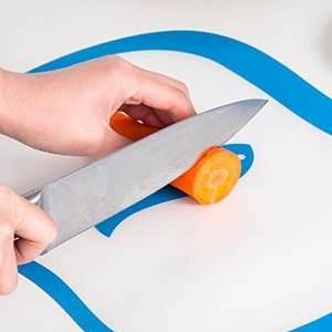 美麗大街【BF120E13E822】多功能樹脂磨砂分類砧板 防滑水果切板 透明家用切菜板(四個裝)