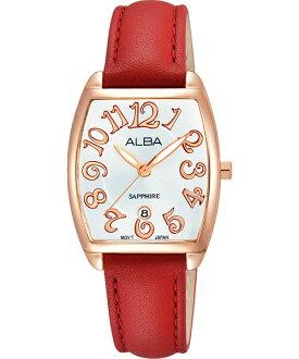 ALBA VJ22-X235U(AH7L32X1)玫瑰金酒桶時尚腕錶/白面26mm
