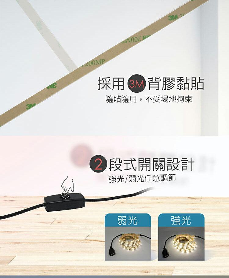 Esense 逸盛 USB多功能LED軟燈條 白光/暖光 兩公尺 可串接 IP65防水防塵 附USB輸出電池盒 露營燈條
