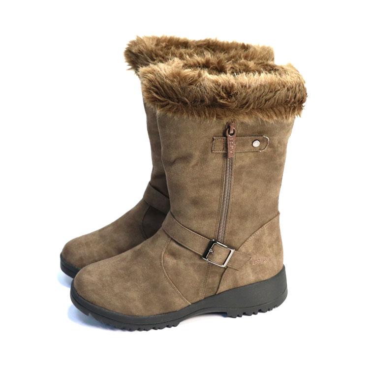 ESKT 女中筒雪鞋SN225  城市綠洲 (雪靴、防潑水、刷毛、冰爪) 1