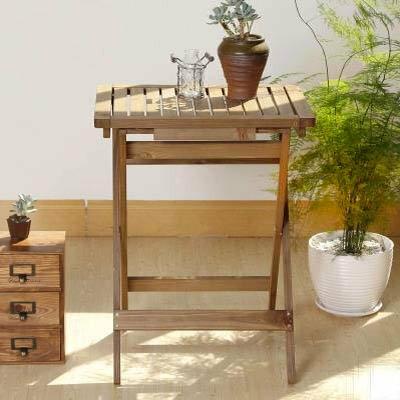 【長方形折疊桌子-ZM070-47.5*36.5*61.5cm-1張/組】杉木戶外便攜書桌餐桌花架-5170860