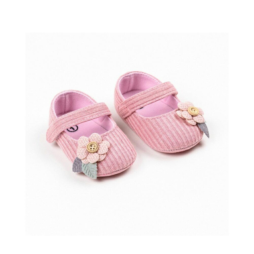 嬰兒鞋 寶寶學步鞋 針織蝴蝶結學步鞋 針織花朵學步鞋 女寶寶 百搭嬰兒鞋  88260