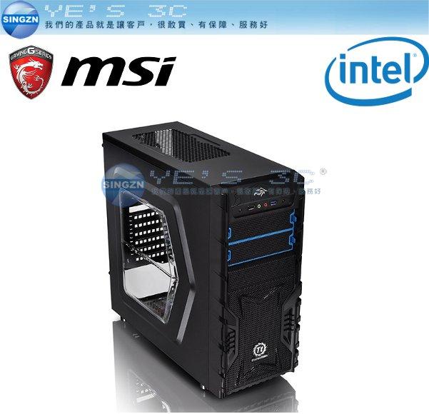 「YEs 3C」INTEL 微星 鬥陣特攻高階主機 四核心桌上型電腦主機 【I5-6400+DDR4 16G+GTX1060 6GD5獨顯 電競 GAMIMG】