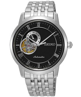 Seiko Presage 4R39-00M0D(SSA271J1)經典羅馬透視機械腕錶/黑面39mm