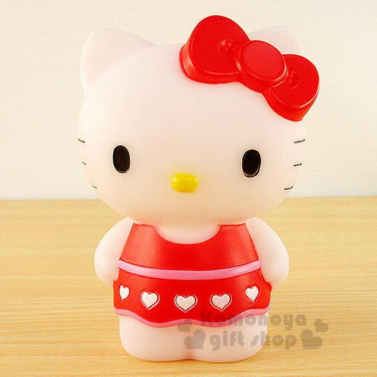 〔小禮堂〕Hello Kitty 造型存錢筒《小.紅.站姿.洋裝》超可愛桌面擺飾