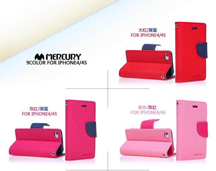 韓國Mercury雙色側翻手機皮套/可立式 1