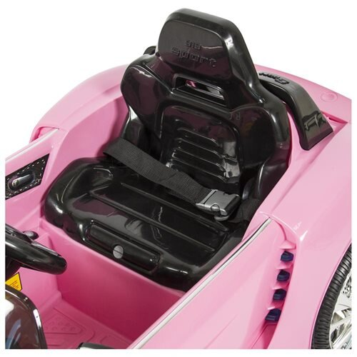 Best Choice Products 12V Kids Battery Powered Remote Control Electric RC Ride-On Car w/ LED Lights, MP3, AUX - Pink 3