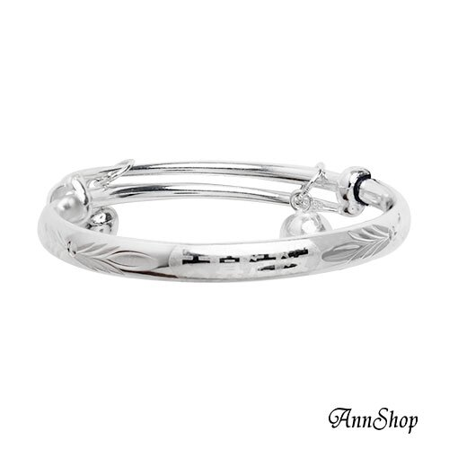 【925純銀‧天真活潑小孩手環】嚴選熱賣款寶貝彌月禮珠寶銀飾禮品 b90000226