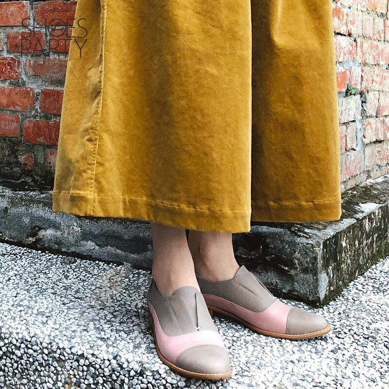 【C2-18740L】簡約真皮復古紳士鞋_Shoes Party 1