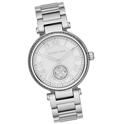 美國Outlet正品代購 MichaelKors MK 復古羅馬數字水鑽  陶瓷  三環 手錶 腕錶 MK5866 3