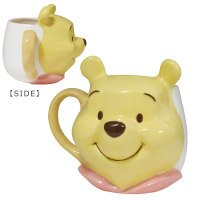 【真愛日本】小熊維尼pooh 迪士尼 馬克杯 茶杯 水杯 立體大臉 杯子 4942423246039 陶瓷立體2D馬克杯-PH大臉 GT11 0