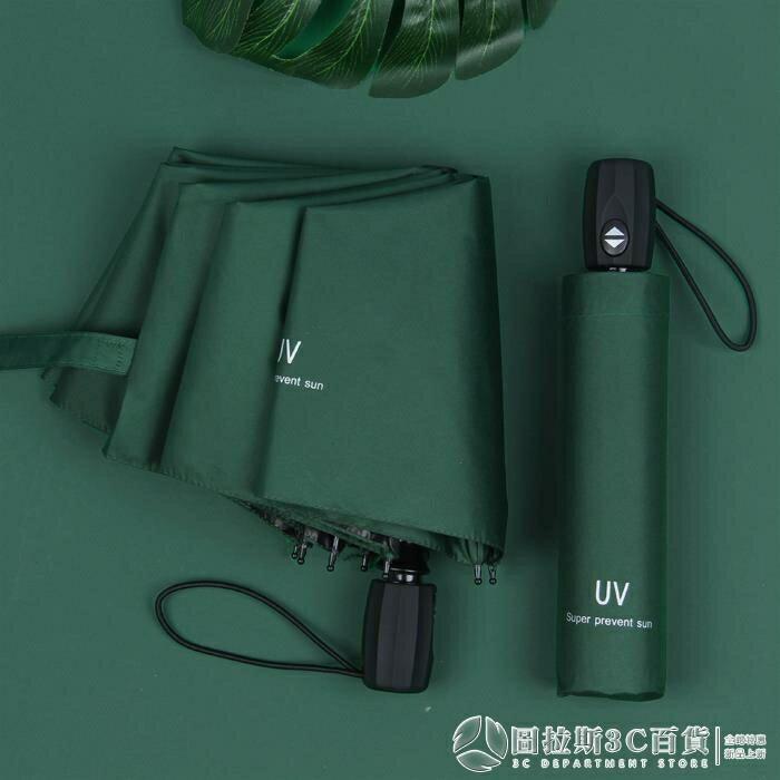 全自動女男折疊遮陽防曬防紫外線晴雨傘兩用太陽傘廣告定制印logo 樂樂百貨