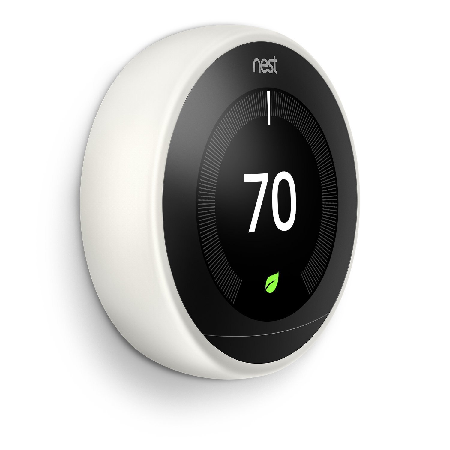 Nest Learning Thermostat 3rd Generation, White, Works with Amazon Alexa-White 1