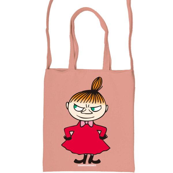 【嚕嚕米Moomin】彩色斜背包-LiitleMy(粉紅黃色)