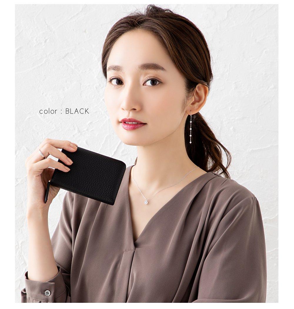 日本CREAM DOT  /  全8色 カードケース コンパクトサイズ ミニウォレット ファッション小物 おしゃれ シボ加工 小さめ 収納 本革 リアルレザー キャッシュレス ブラック ベージュ キャメル サックス  /  a03502  /  日本必買 日本樂天直送(3390) 7