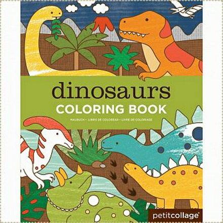 美國PetitCollage-著色本:恐龍世界【寶貝樂園】