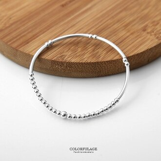 銀管圓型珠鍊925純銀手鍊 個性與甜美混搭手環 創意與質感兼具 柒彩年代【NPA349】氣質女孩