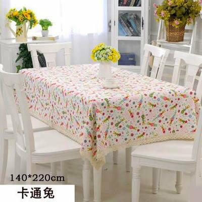 【PVC花邊臺布-140*220cm-1款組】歐式餐桌佈防水油燙免洗軟塑膠桌墊(可定制)-7101001