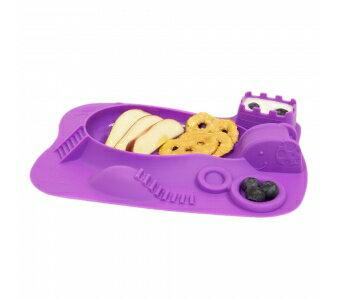 加拿大 MARCUS  MARCUS 動物樂園遊樂 餐盤-鯨魚(紫)★愛兒麗婦幼用品★