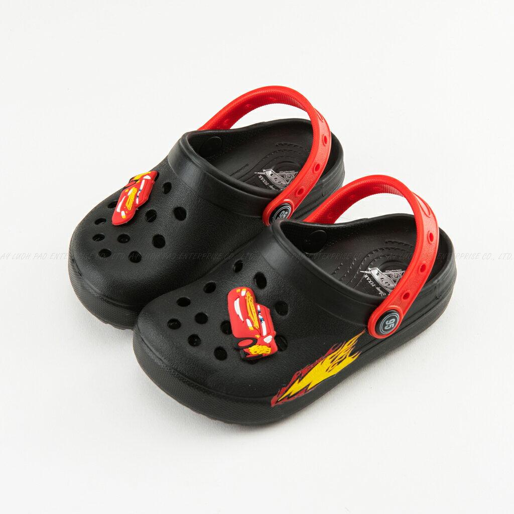Disney 迪士尼 217215 Cars3 閃電麥坤 汽車造型 EVA 防水 休閒涼拖 涼鞋 拖鞋 童鞋 黑色