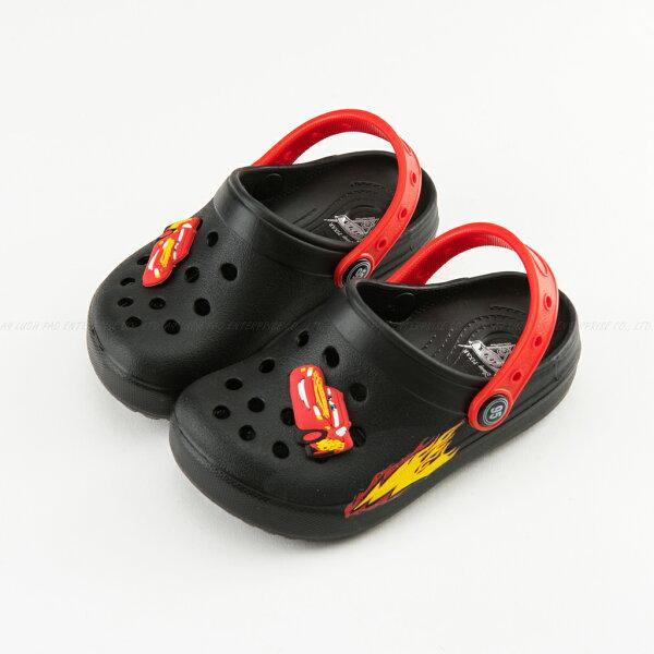 KAGOOD:Disney迪士尼217215Cars3閃電麥坤汽車造型EVA防水休閒涼拖涼鞋拖鞋童鞋黑色