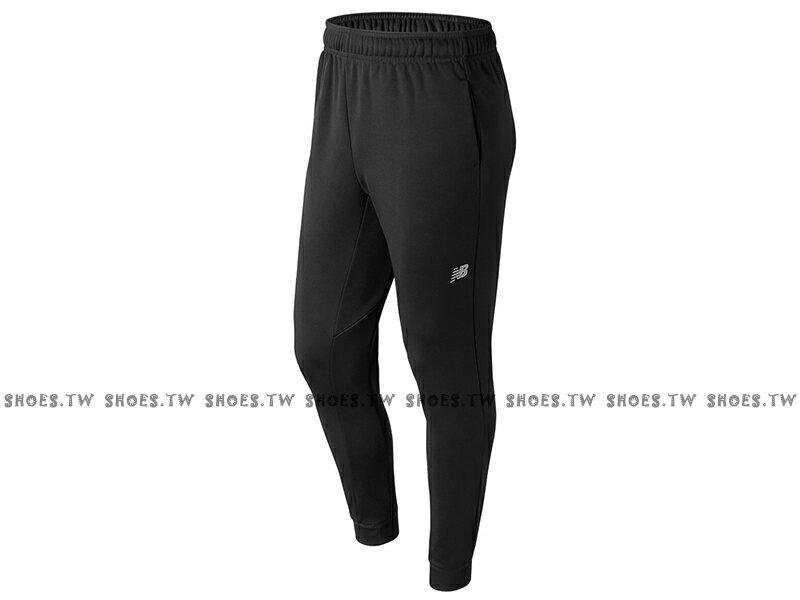 Shoestw【AMP73011BK】NEW BALANCE NB服飾 Tech Fleece 長褲 運動褲 縮口褲 NB DRY 保暖 內刷毛 黑色 男生 0