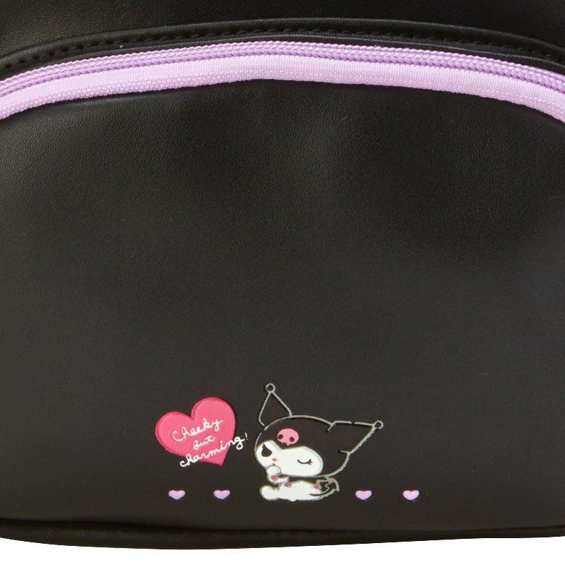 迷你皮質後背包 三麗鷗 酷洛米 KUROMI 包包 日本進口正版授權