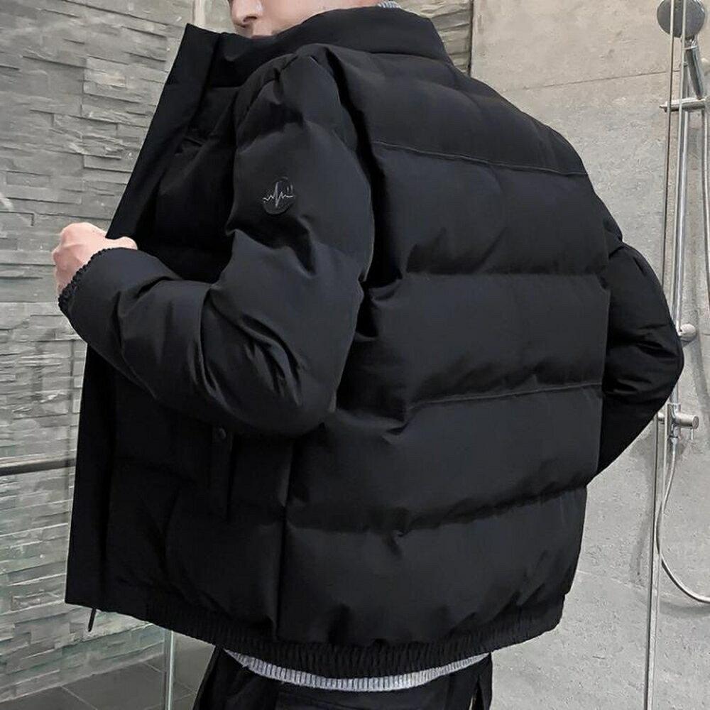 羽絨外套 男士外套冬季新款棉衣情侶韓版修身潮流短款棉襖工裝羽絨棉服