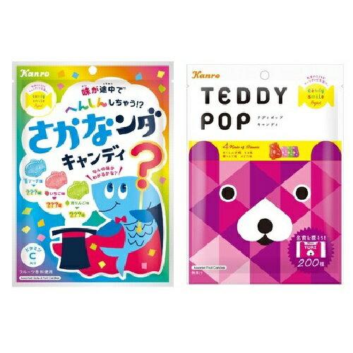 【江戶物語】甘樂 魔法小魚造型糖 泰迪熊造型糖 70g 綜合水果糖 硬糖 KANRO 婚禮糖果 日本原裝 水果糖