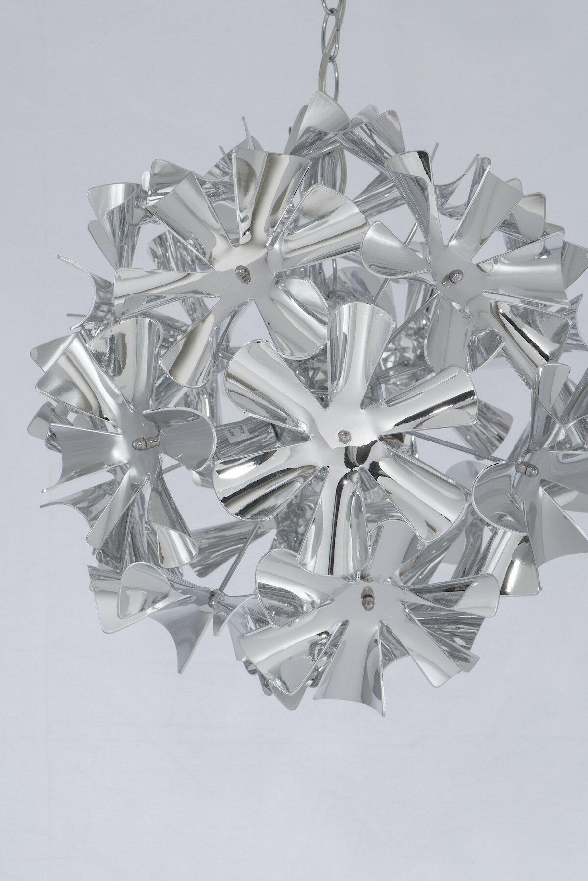 鍍鉻波浪花紋吊燈-BNL00052 0