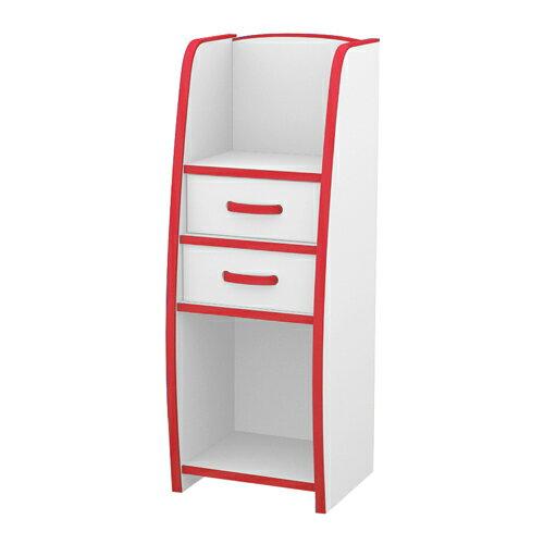 TZUMii:日本直輸書櫃收納櫃TZUMii小木偶二抽收納櫃-紅白