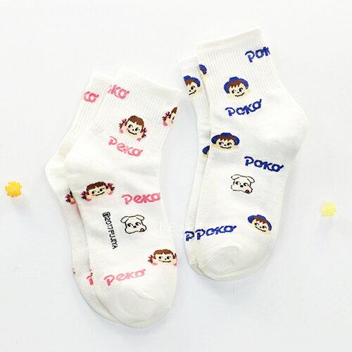 小花拉拉:韓國空運不二家PekoPoko大頭中筒襪-大人款中筒襪印花襪