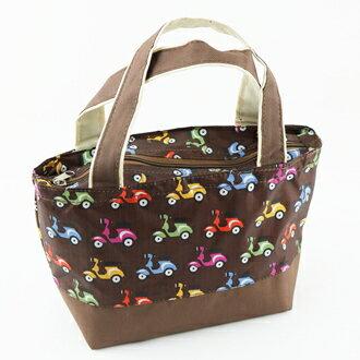 【珍昕】雙色保溫便利袋~3種花色/咖啡.粉紅.淡紫(11X20X17cm)