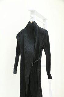 pregshop孕味小舖《皺褶系列》和服式純色綁帶長版皺褶厚外套皺褶系列風衣(剪標商品)