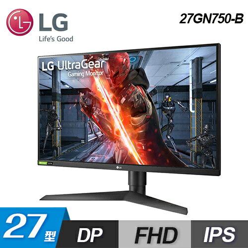 【LG 樂金】27型 專業玩家電競顯示器(27GN750-B)【三井3C】