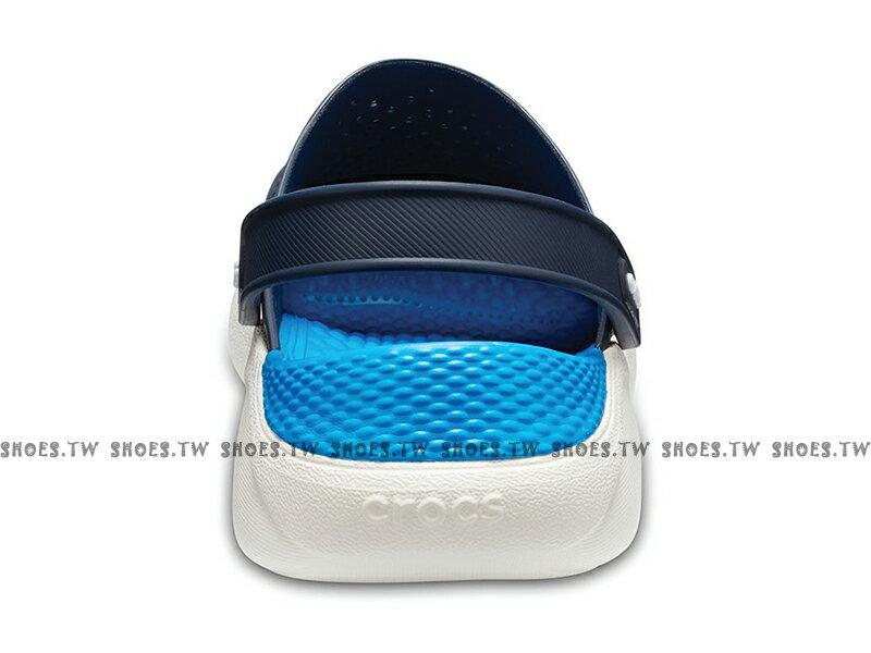 Shoestw【204592-462】CROCS Lite Ride 卡駱馳 鱷魚 輕便鞋 拖鞋 涼鞋 深藍水藍 中性款 男生尺寸 3