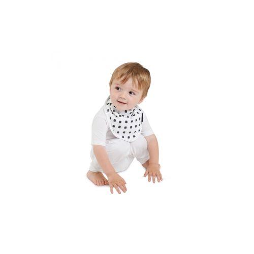 紐西蘭 Mum 2 Mum 雙面竹纖維棉機能口水巾圍兜-水彩方塊/星星★衛立兒生活館★