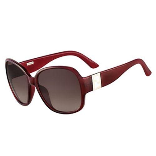 FENDI時尚紅框太陽眼鏡5336