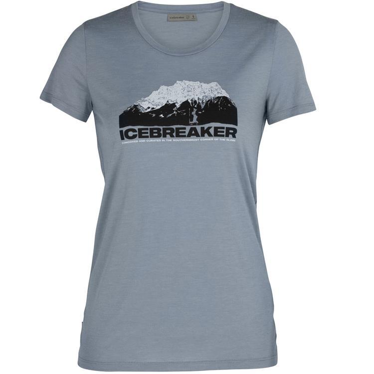 Icebreaker Tech Lite AD150 女款大圓領短袖上衣 105382 冰山高峰 047 藍