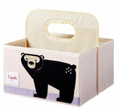 【淘氣寶寶】加拿大 3 Sprouts 雙面手提籃-黑熊【特製設計的寬板提把方便提取,雙面收納】【保證公司貨】 - 限時優惠好康折扣