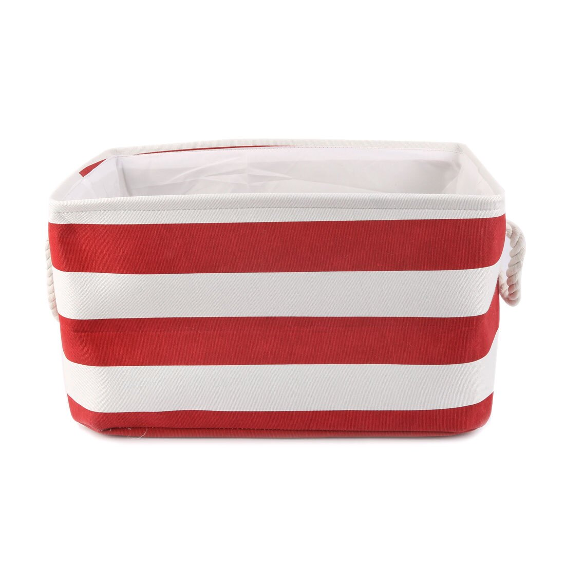 Home Collapsible Fabric Storage Basket Bin Box Organizer With Handle Red M 0