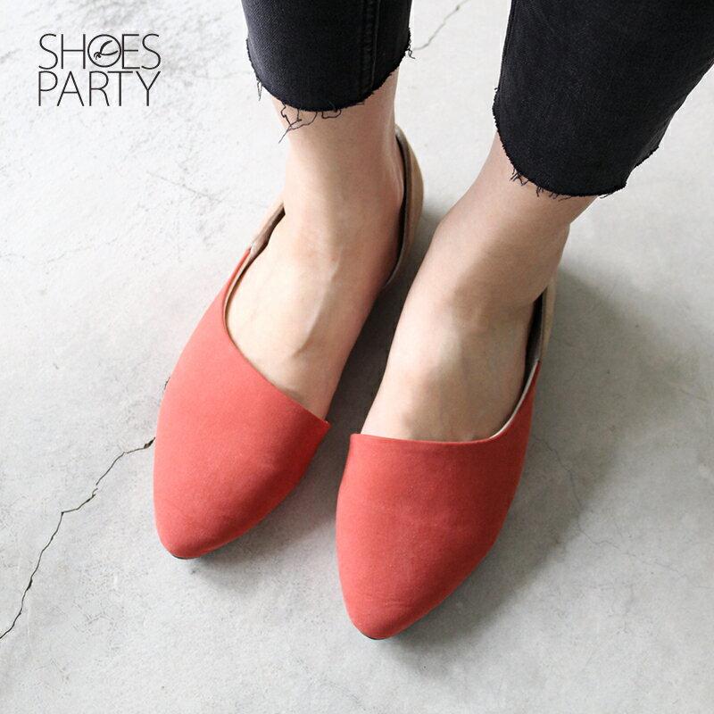 【P2-17124F】布面拼接外尖內圓便鞋_Shoes Party 3