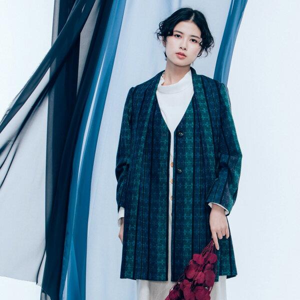 許許兒:許許兒∵12小節藍調造型領毛料大衣-低音爵士