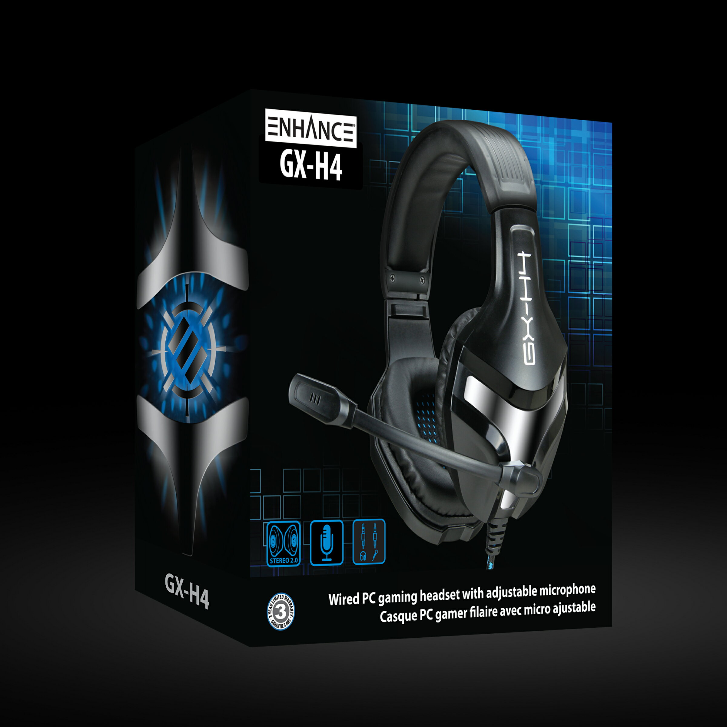 ENHANCE GX-H4 Stereo Gaming Headset with Adjustable Microphone &  Noise-Isolating Earphones 8