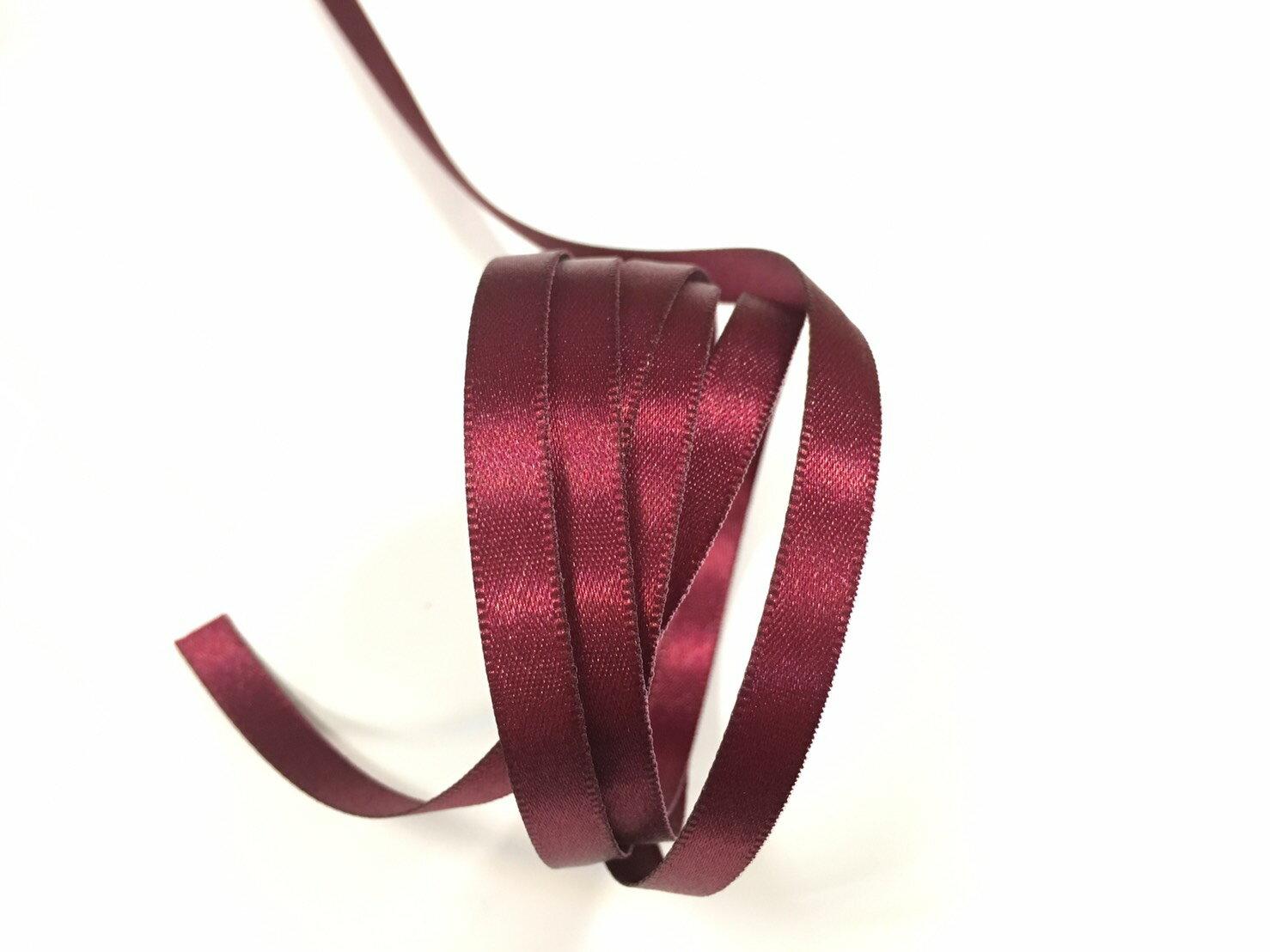 雙面緞面緞帶 6mm 3碼 (20色) 8