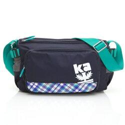 【金安德森】樂活行旅 中型正方款斜側輕旅包-深藍
